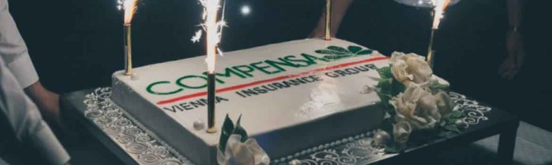 Corporate anniversary: Compensa drives